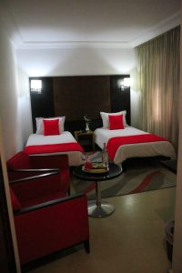 standard deluxe twin room of pacha hotel , Details: 2 beds, bathroms, nice view